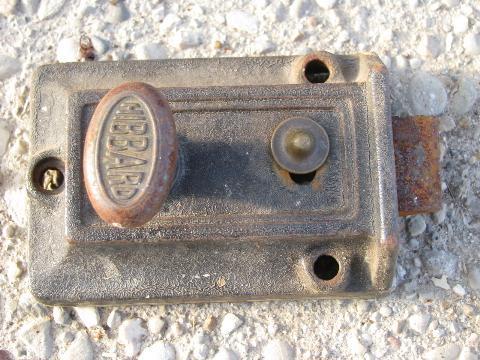 antique Victorian door hardware lot, old vintage Corbin box locks - Victorian Door Hardware Lot, Old Vintage Corbin Box Locks