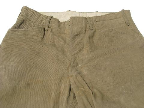 antique WWI vintage, riding breeches/jodhpurs, US Army