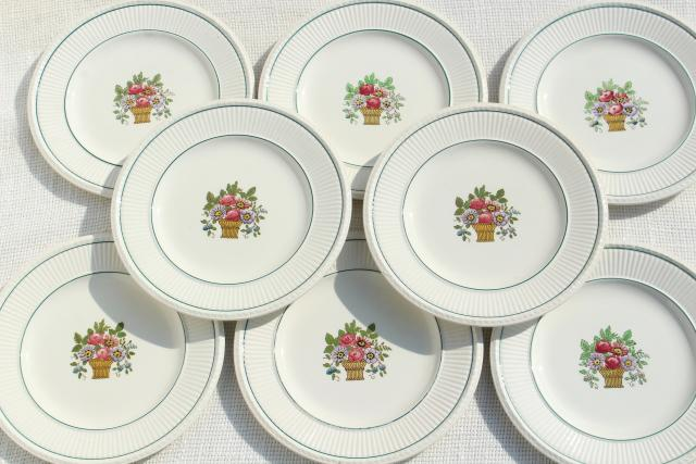 antique Wedgwood china bread plates Belmar flower basket on Edme shape vintage 1917  sc 1 st  Laurel Leaf Farm & antique Wedgwood china bread plates Belmar flower basket on Edme ...