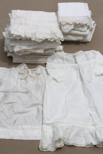 Antique All White Infant Amp Baby Dresses Long Gowns Slips