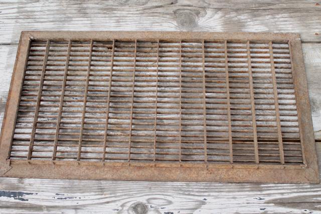 Antique Architectural Register Grate Large Vintage Steel