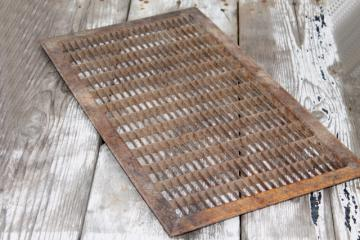 antique architectural register grate large vintage steel floor vent grating