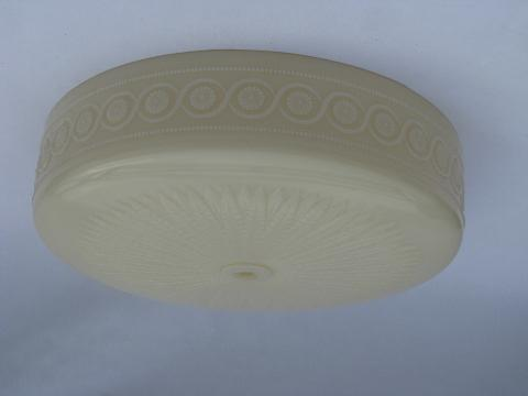 antique art deco vintage custard glass lamp shade for pendant, ceiling fixture light