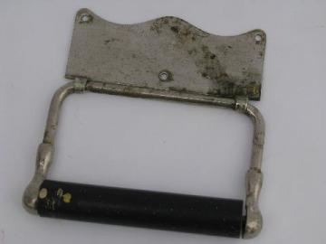 antique bath fixtures restoration hardware, 20s vintage nickel silver tissue holder