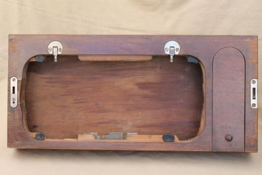 Antique Bentwood Wood Sewing Machine Cover Case For