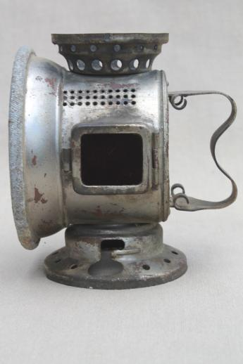 Antique Headlight Restoration : Antique bicycle carbide head light bett s patent