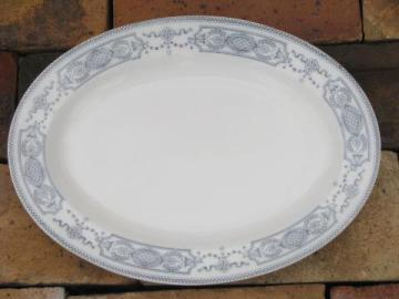 antique blue and white china platter, Pontracina Johnson Bros England