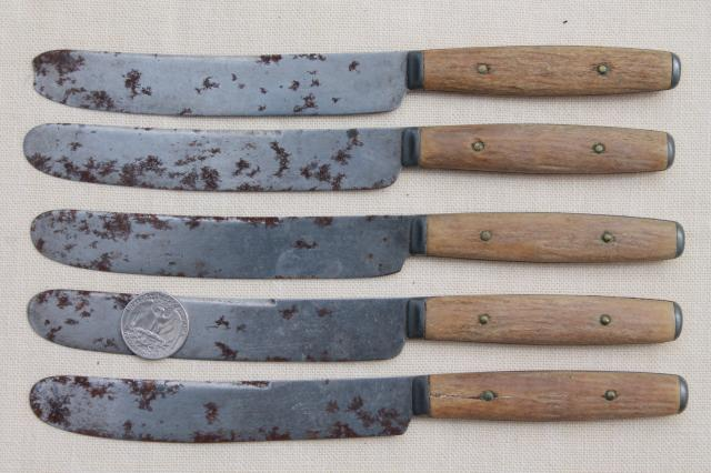 how to make antler and wood knife handles