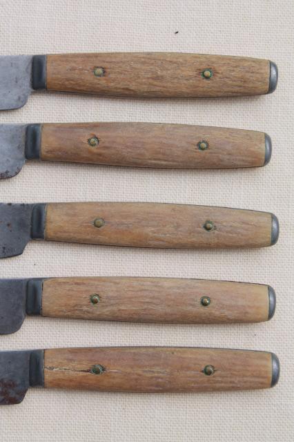Antique Bone Antler Handles Amp Wood Handled Table Dinner
