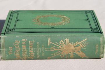 antique book American Gardener's Assistant dated 1866, illustrated w/ vintage engravings
