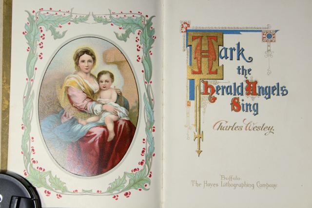 antique books for holiday decorations, A Christmas Carol & art cover illustration poetry