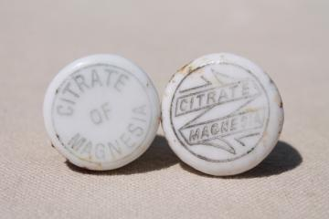 antique bottle stoppers, printed ironstone china stopper for vintage pharmacy drug medicine bottles