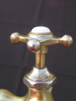antique brass and china faucet taps