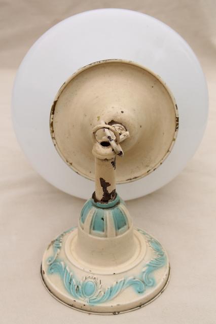 Antique Brass Pendant Light Fixture  Vintage Lighting W