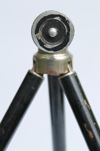 Antique Brass Tripod Camera Stand Early 1900s Vintage