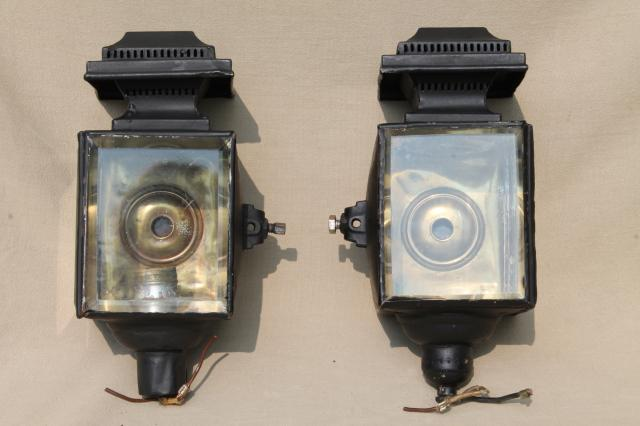 Antique Carriage Lights Early Automobile Lamps Converted