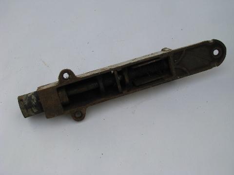 antique cast iron and brass door stop latch hardware w/1900 patent - Cast Iron And Brass Door Stop Latch Hardware W/1900 Patent