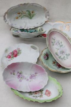 antique china with roses & flowers, lot of hand painted floral dishes, shabby cottage chic