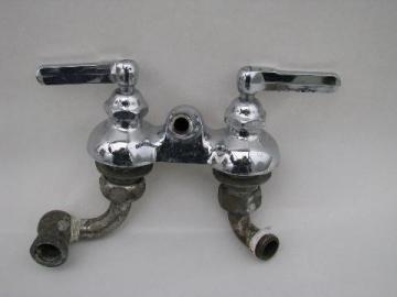 antique deco vintage McDonald chrome shower/bath tub faucet