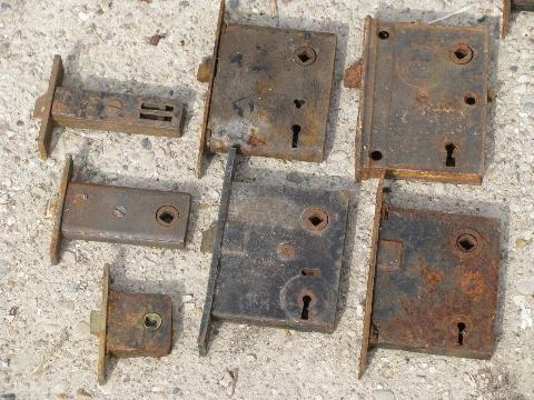 - Antique Door Hardware, Old Box Locks, Vintage Mortise Lock Lot