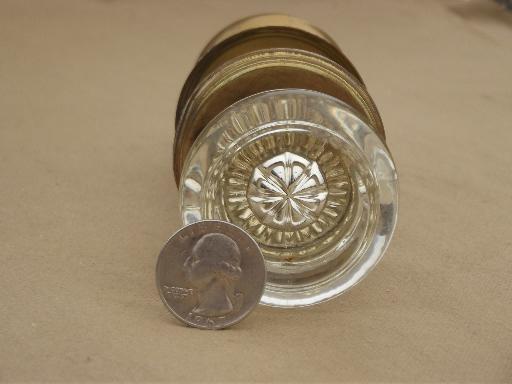 door hardware, vintage mercury silver glass doorknob & solid brass ...