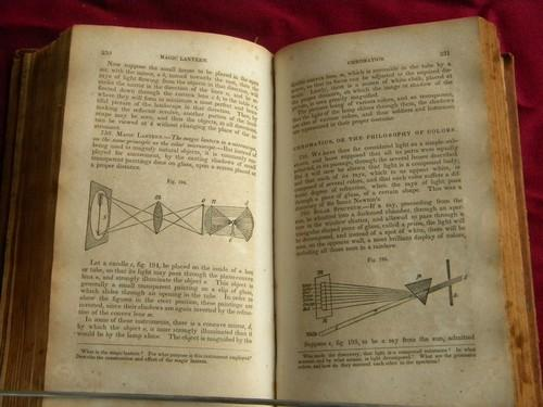 antique early 1800s Comstock's Philosophy, astronomy/engineering/physics