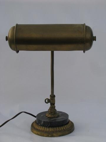 Antique Early Electric Vintage Banker S Desk Light Old