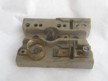 antique early industrial/architectural fuse holder with mica bottom socket