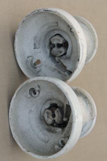 Antique Electric Light Fixtures White Porcelain Ceiling