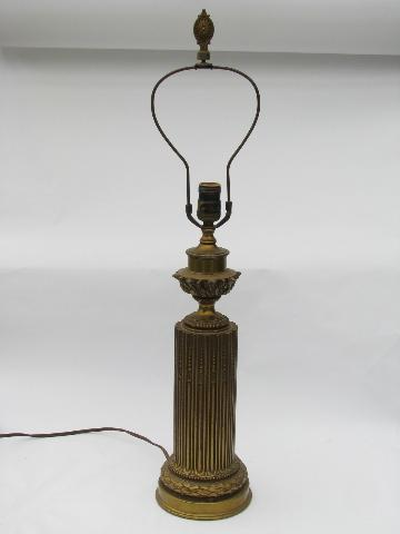 Antique Electric Table Lamp Ornate French Baroque Ormulo Gold