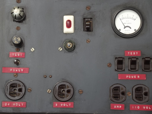 Electrical Distribution Panel With Meter : Antique electrical power supply vintage meter w bakelite