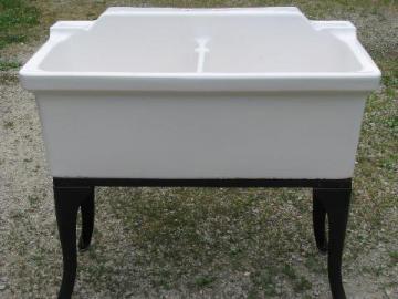 antique farmhouse vintage ironstone porcelain double basin farm kitchen sink