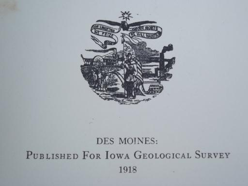 antique farming book Rodents of Iowa, 1918 Iowa Geological Survey book