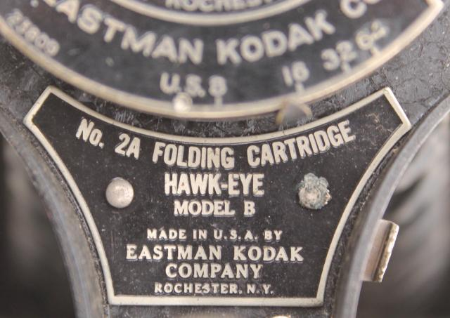 Antique Folding Camera Vintage Kodak Hawk Eye Model B No