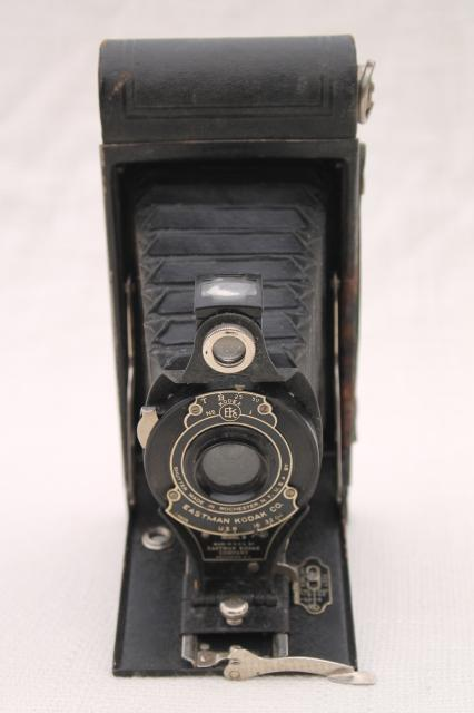 Antique Folding Camera Vintage Kodak Hawk Eye Model B No 2a Cartridge Film