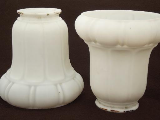 antique frosted milk glass shades white satin glass replacement light shades