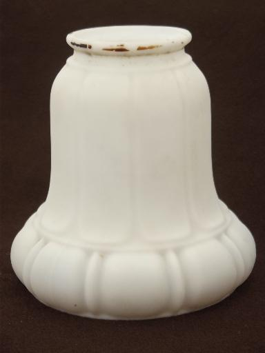 antique frosted milk glass shades white satin glass