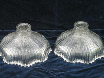 antique glass diffuser reflector halophane shades