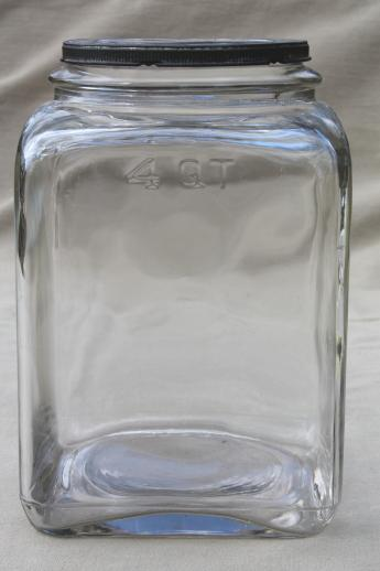 Antique Glass Jar Old Store Counter Canister Or Butter