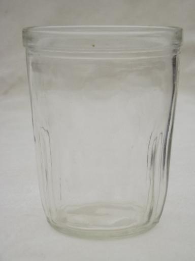 Antique Glass Jelly Jar Lot Vintage 1906 Tumbler Jars