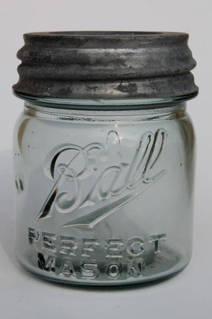 antique glass jelly jars early 1900s vintage ball mason. Black Bedroom Furniture Sets. Home Design Ideas