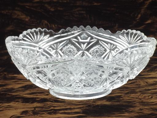 Antique Glass Serving Dishes Amp Bowls Brilliant Star