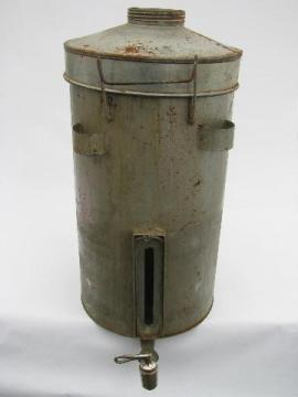antique gravity cream separator, vintage dairy farm milk can