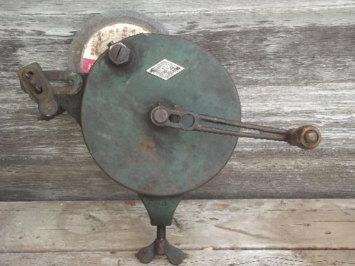 Antique Hand Crank Bench Grinder The Luther Lines Tool