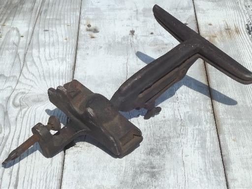 antique hand saw vise, swivel clamp for sharpening and setting saws
