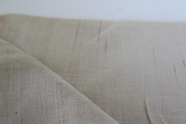 antique hand woven fabric, primitive early 1800s homespun coarse flax linen bed sheet