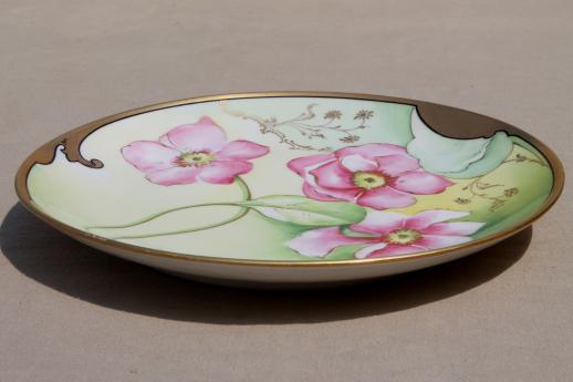 Antique Hand Painted Limoges Porcelain Plate W Art