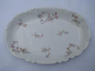antique hand-painted china platter, old Haviland - Limoges France