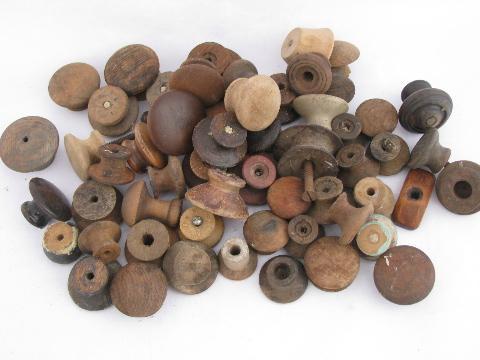 antique hardware lot primitive old wood drawer pulls large jar asst wooden knobs antique hardware furniture pulls