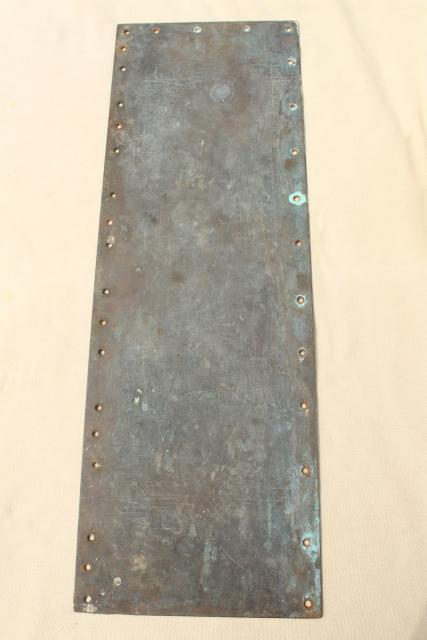Antique Heavy Solid Brass Door Hardware Kick Plate Or